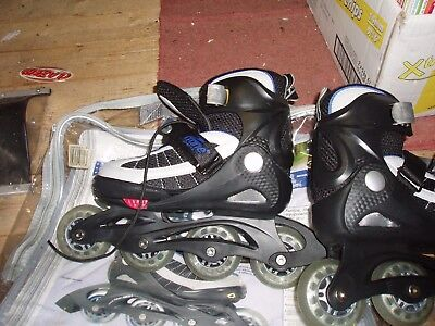 Inline skates, size 2 to 4, blue, used.