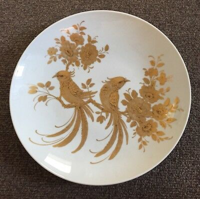 Large Gold Bird Plate By Kaiser West Germany Melodie Nossek Interior Design