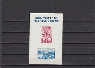 a134 - HAITI - SGMS568 MNH 1959 BRUSSELS INTERNATIONAL EXHIBITION