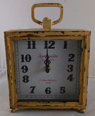 "Vintage Style Table Mantel Clock "" Antiquite de PARIS "" Distressed Antique Look"