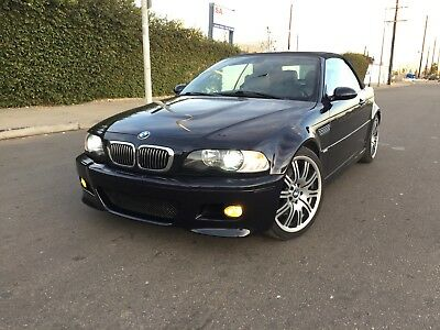 2004 BMW M3 Base Convertible 2-Door 2004 BMW M3 E46 Convertible SMG Carbon Black Only 83K Miles Good Options!