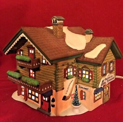 Sport Laden Dept 56 Alpine Village 56120 Christmas alpenhorn ski chalet lodge