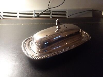 silver plate butter dish by WM Rodgers