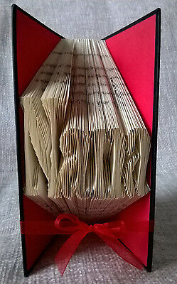 'NANA' FOLDED BOOK ART made from GANGSTA GRANNY book by David Walliams