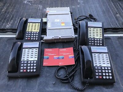 Avaya 103R system with Voice Messaging card 4 phones bundle