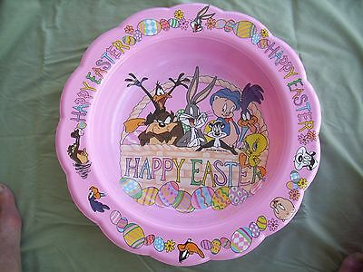 New With Tag - Looney Tunes - Easter Candy Bowl / Basket - By Ullman