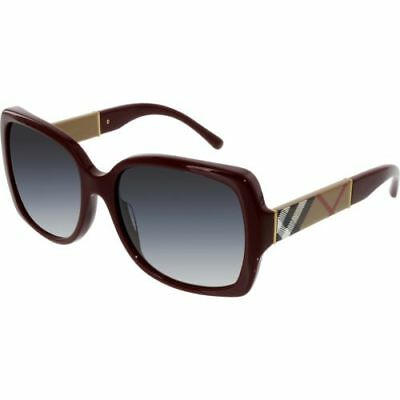 Burberry Women's Gradient BE4160-34038G-58 Red Square Sunglasses