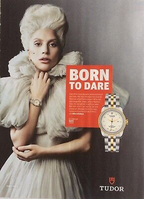 LADY GAGA UK Tudor Magazine Ad Clipping *Bad Romance Born This Way Gay