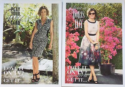 DANNII MINOGUE UK M&S 2 x Promo Cards *Kylie Clippings Advertisements