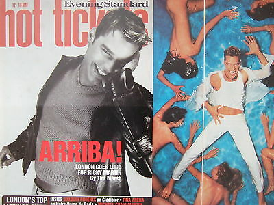 RICKY MARTIN UK Hot Tickets Magazine Clipping *La Vida Loca Menudo