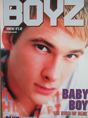 LEE RYAN UK Boyz Magazine Clipping 18.10.03 *BLUE All Rise Duncan James ESC