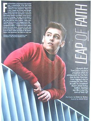 TOM DALEY London ES Magazine Clipping Nov. 2015 * Olympic Games Diving Gay