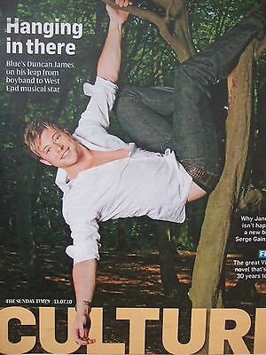 DUNCAN JAMES UK Magazine Clipping July 2010 *Lee Ryan All Rise BLUE