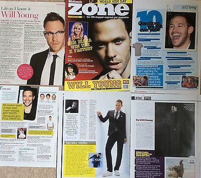 WILL YOUNG UK Magazine Clippings Pack 2 *Leave Right Now Strictly Pop Idol