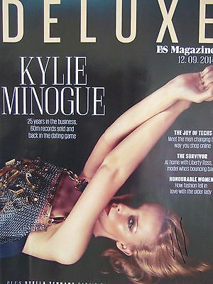KYLIE MINOGUE 10 Page UK ES Deluxe Magazine Clipping Sept '14 * Dannii Jason