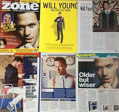 WILL YOUNG UK Magazine Clippings Pack 1 *Leave Right Now Strictly Pop Idol