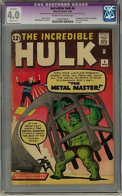 Incredible Hulk #6 CGC 4.0 1st appearance of the Teen Brigade and Metal Master
