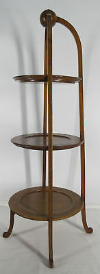 Antique 19th C Elegant Three Tiered Dessert Pastry Muffineer Display Stand yqz