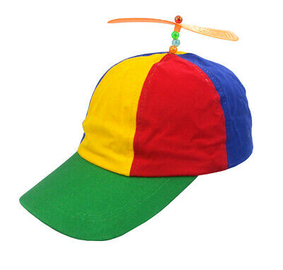 4894ac2dfcae6 Adult Propeller Beanie Hat Clown Costume Spinner Copter Helicopter Ball Cap