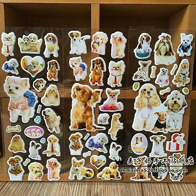 3pcs puffy stickers lot for children Stereoscopic toys pet dog- kids Xmas gift