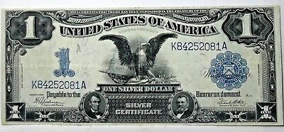 1899 Black Eagle $1 Silver Certificate Note Nice Condition Circulated Note