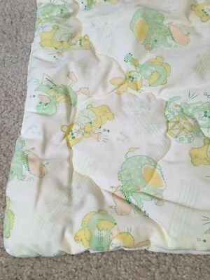 Yellow and green animal print baby quilt. Great condition.