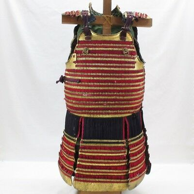 D993: REAL old high-class Japanese iron body guard DO of SAMURAI armor in 1700's