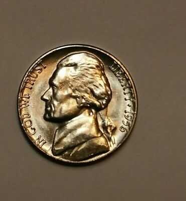 1956 D Jefferson Nickel 5C - 1 (one) Coin Uncirculated BU Free Shipping