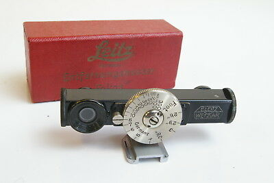 Leica Leitz Fokos Black Paint Rangefinder Attachment w/ Red Box Rare 99% Mint