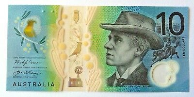 2017 Unc $10 Next Generation  Polymer Banknote Bank Note First Prefix Aa17