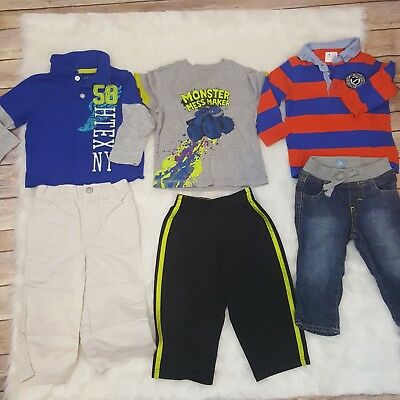 Baby Boy Toddler 18mo Winter Fall Lot 6pc Bundle BabyGAP Starter Circo Healthtex