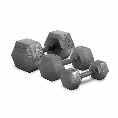 Metal Hex Dumbbell Set 10 KG Pair Home Gym Weights Dumbell