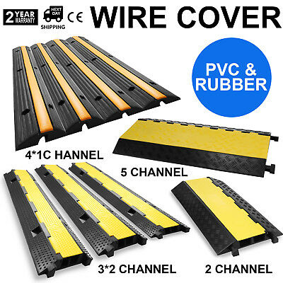 Rubber Electrical Wire Cover PVC & Rubber Ramp Dual Channel GREAT