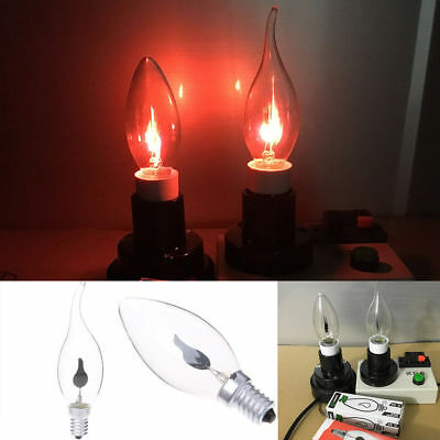 E14/E27 LED Light Flicker Fire Flame Bulb Candle Lamp Home Chandelier Decoration
