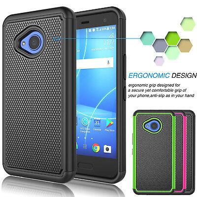 Armor Shockproof Hybrid Rugged Rubber Matte Hard Case Cover for HTC U11 Life