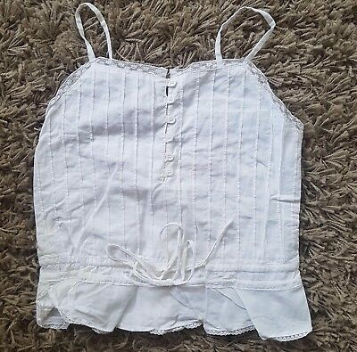 Girls sz 6 gorgeous white cotton summer top a FRED BARE classic
