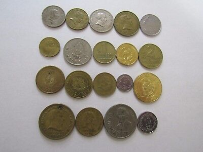 Lot of 19 Different Uruguay Coins - 1953 to 2014 - Circulated & Brilliant Unc.