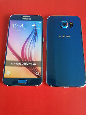Samsung Galaxy S6 in Blau Handy Dummy Attrappe - Requisit, Deko, Werbung, Muster