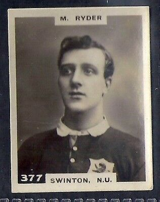 Pinnace Football-Black Oval Back-#0377- Rugby - Swinton. N.u. - M. Ryder