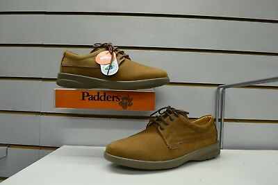 Mens Padders Lunar Mocha Nubuck Dual Fitting Laced Shoes UK 9.5 Made In England