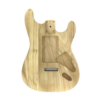 Unfinished DIY Guitar Body Maple Body For Fender ST Style Guitar Replacement