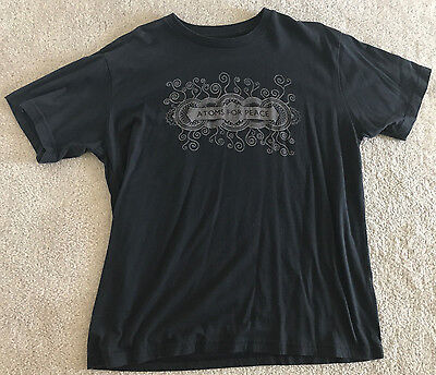 Atoms For Peace 2010 USA Tour Shirt W.A.S.T.E Radiohead Thom Yorke Men's L Large