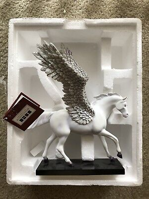 The Trail Of Painted Ponies Silver Lining Horse Pegasus with Tag and Box