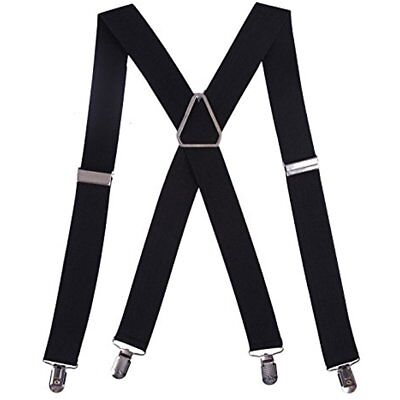 "Suspenders Men's Big And Tall X-Back Clip 1.5"" Wide Adjustable NIP New In Pack"