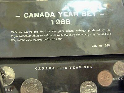 1968 & 1970 Canada Year Sets with Silver   *FREE SHIPPING* S38