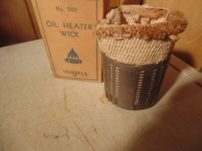 No. 500 Oil Heater Wick,hubbell,nib,antique.