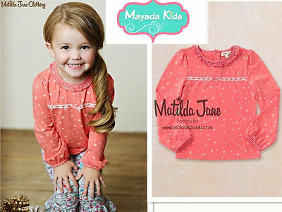 NEW Matilda Jane Friends Forever Collection coral star Eisley Top 2/4/6/8/10/12