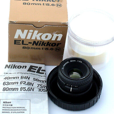 Nikon EL-Nikkor 80mm f5.6 N enlarging lens, mint condition