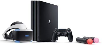 Sony PlayStation 4 Pro 1TB Black Console + Move Motion Controller +VR Bundle NEW