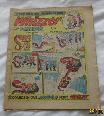 Whizzer and Chips Comic 14th June 1975